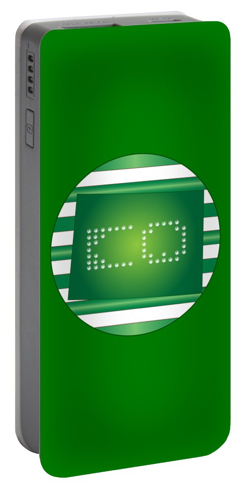 Weed Portable Battery Charger featuring the digital art Colorado Green by Larry Waitz