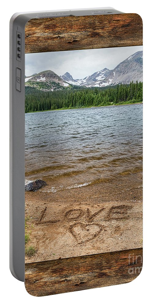 Windows Portable Battery Charger featuring the photograph Colorado Love Window by James BO Insogna