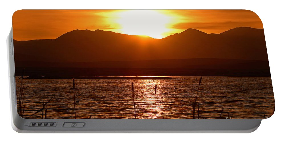 Colorado Portable Battery Charger featuring the photograph Colorado Marsh At Sunset by Max Allen