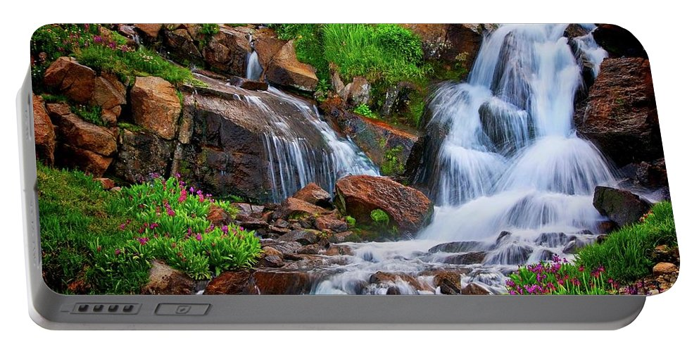 Nature Portable Battery Charger featuring the photograph Colorado Mountain Stream, Indian Peaks Wilderness by Zayne Diamond Photographic
