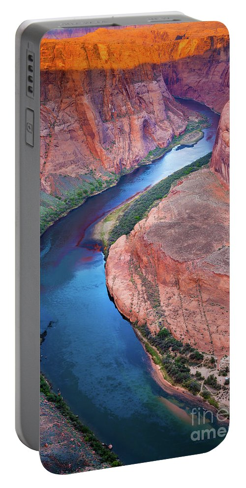 America Portable Battery Charger featuring the photograph Colorado River Bend by Inge Johnsson