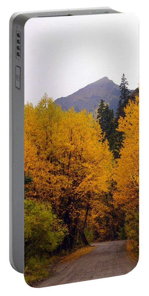 Fall Colors Portable Battery Charger featuring the photograph Colorado Road by Marty Koch