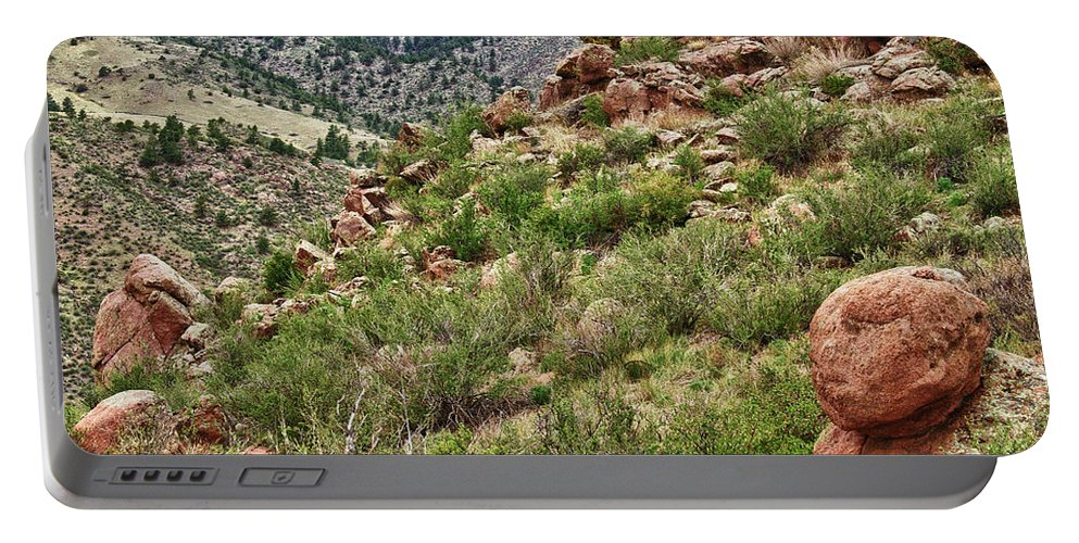 Lyons Portable Battery Charger featuring the photograph Colorado Rocky Mountains Foothills by James BO Insogna