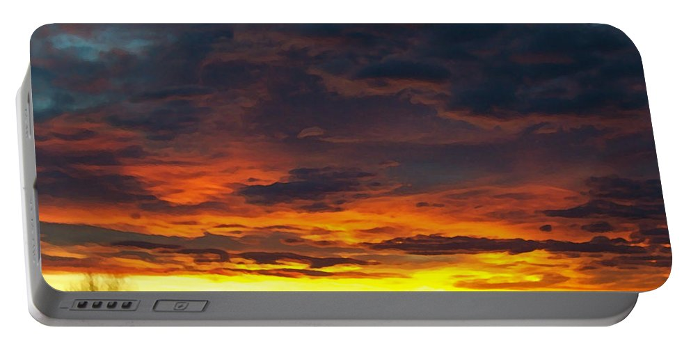 Colorado Portable Battery Charger featuring the photograph Colorado Sunrise February by Ernie Echols