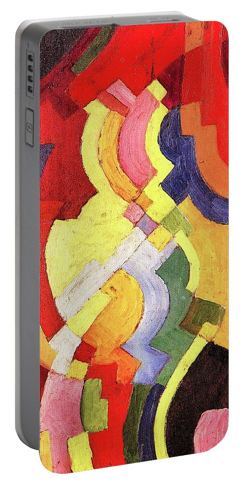 Color Portable Battery Charger featuring the painting Colored Forms IIi By August Macke by August Macke