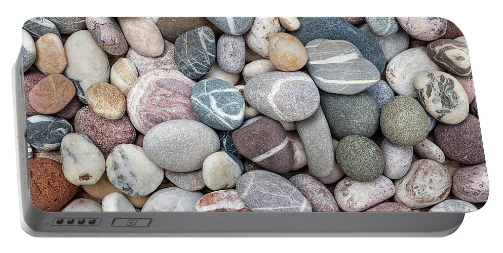 Pebbles Portable Battery Charger featuring the photograph Colorful Beach Pebbles by Elena Elisseeva