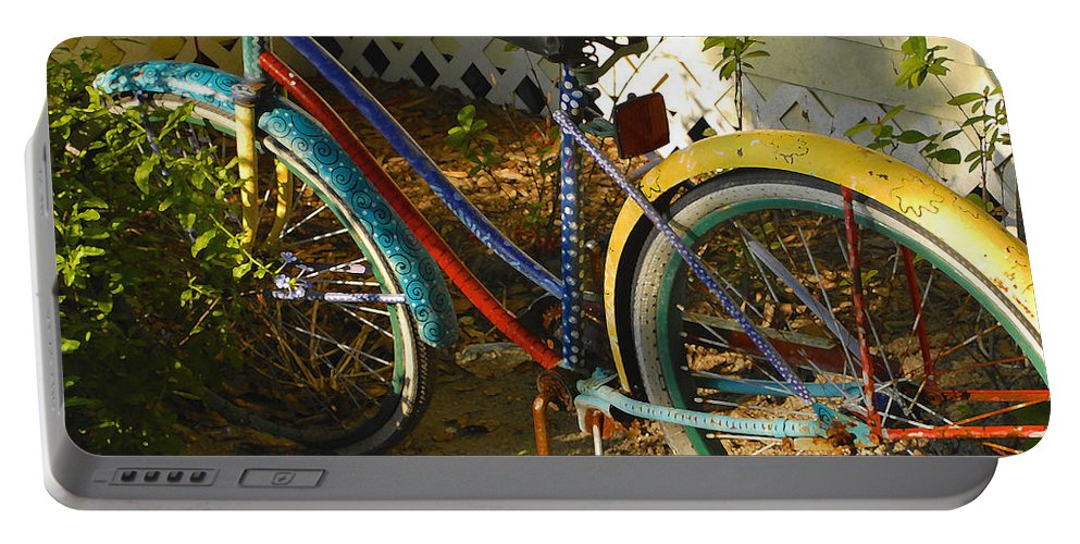 Bicycle Portable Battery Charger featuring the photograph Colorful Bike by David Lee Thompson