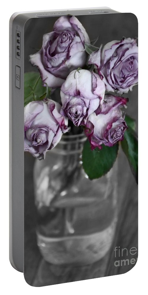 Flowers Portable Battery Charger featuring the photograph Bring Color To My World by Julie Street