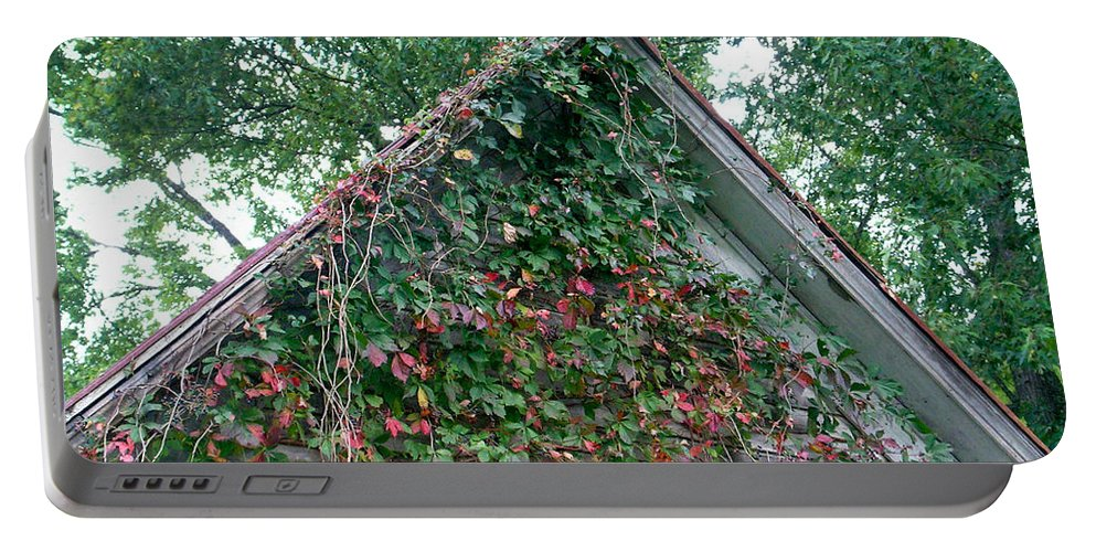 Gable Portable Battery Charger featuring the photograph Colorful Gable by Douglas Barnett