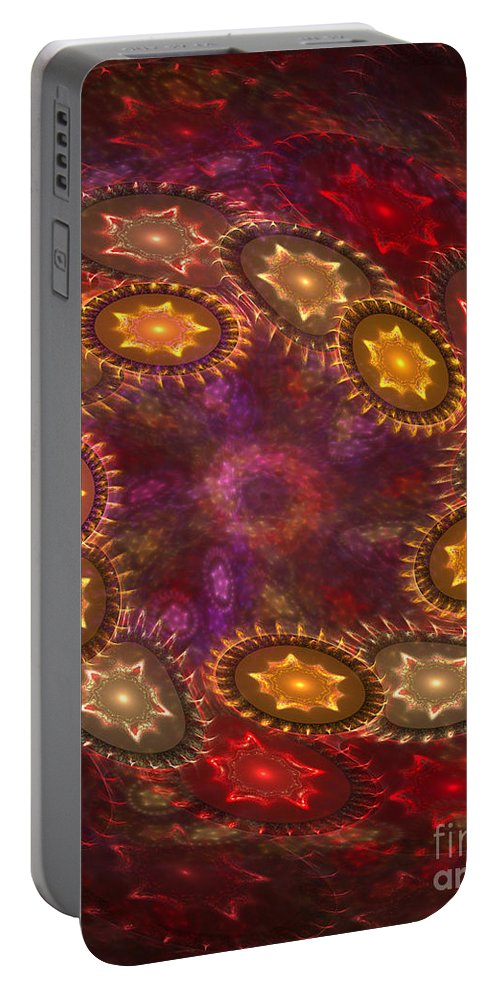 Stars Portable Battery Charger featuring the digital art Colorful Galaxy Of Stars by Deborah Benoit