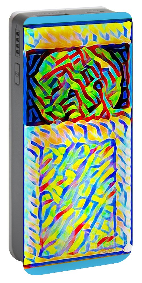 Abstract Portable Battery Charger featuring the photograph Colorful Mind by Alwyn Glasgow