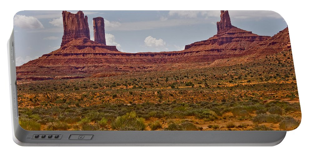 Monument Valley Portable Battery Charger featuring the photograph Colorful Monument Valley by James BO Insogna