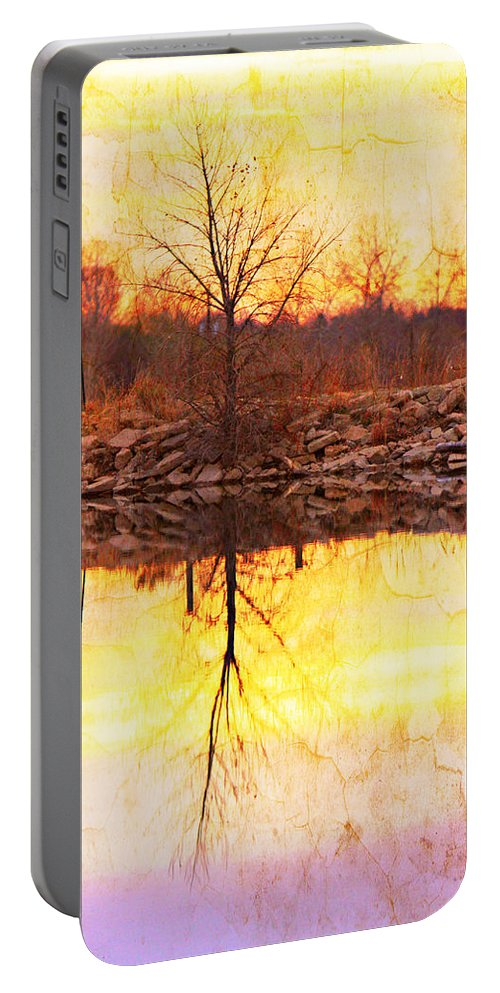Bouldercountybook; Boulder County; Lake; Nature Photography Fine Art Photography; Textured Print; Landscape Photography; Landscape Art; Sunrise; Reflections; Abstracts; Sunset; Colorful; Cracks; Photo Galleries; Canvas Prints; Stock Photo; Photo Prin Portable Battery Charger featuring the photograph Colorful Sunrise Textured Reflections by James BO Insogna