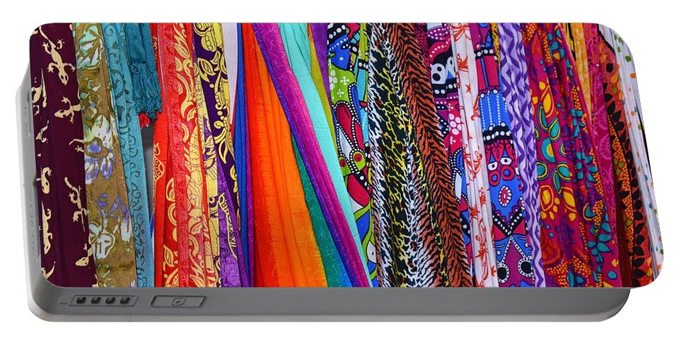 Colorful Tapestries Portable Battery Charger featuring the photograph Colorful Tapestries by Richard Cheski