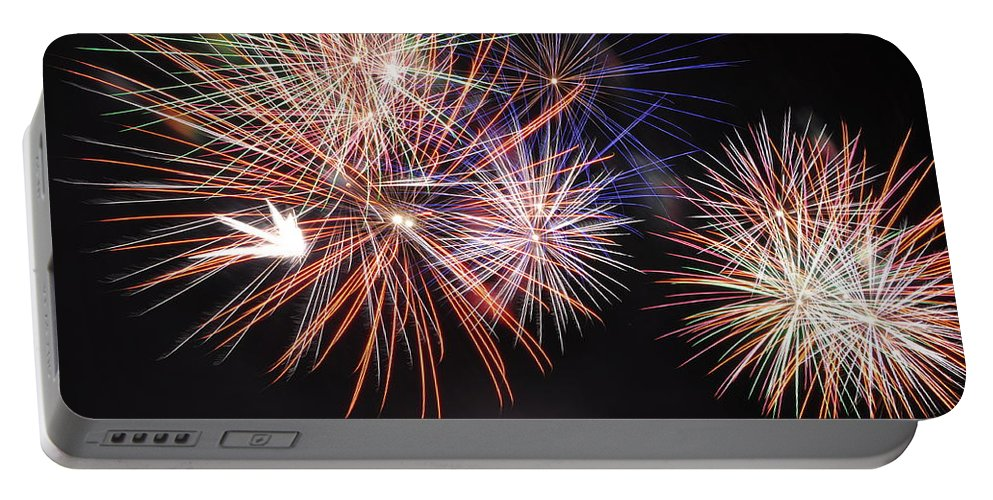 Fireworks Portable Battery Charger featuring the photograph Colors by Glenn Gordon