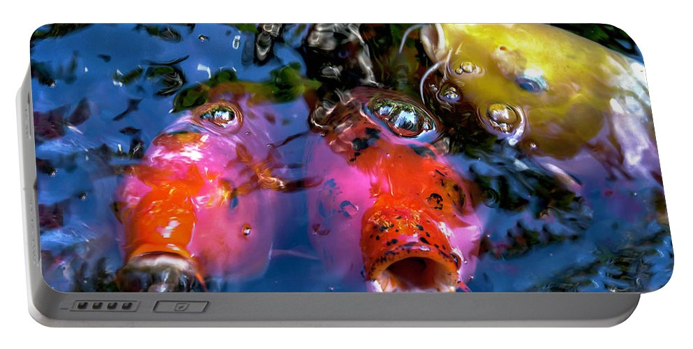 Koi Pond Portable Battery Charger featuring the photograph Colors Of Koi by J Thomas