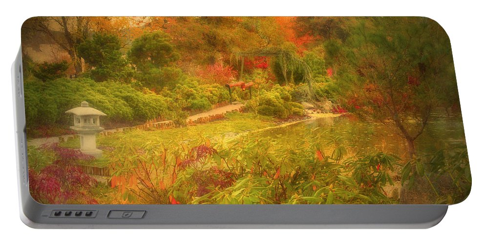 Autumn Portable Battery Charger featuring the photograph Colour Explosion In The Japanese Gardens by Tara Turner
