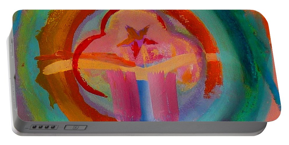 Logo Portable Battery Charger featuring the painting Colour States by Charles Stuart