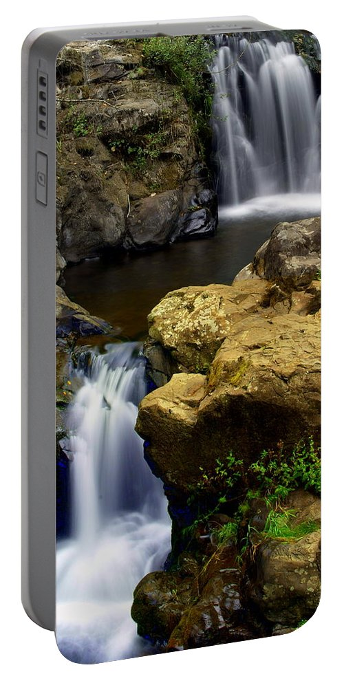 Waterfall Portable Battery Charger featuring the photograph Columba River Gorge Falls 2 by Marty Koch