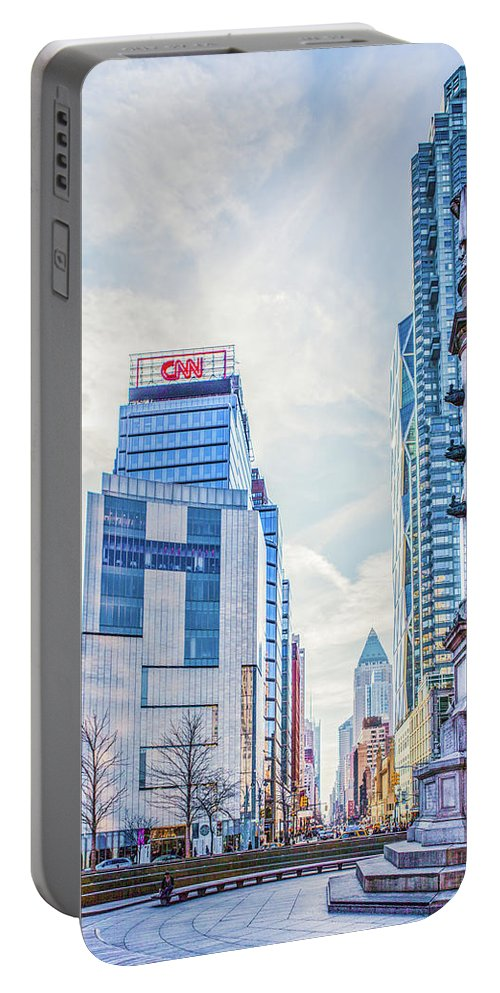 Landscape Portable Battery Charger featuring the photograph Columbus Circle by Theodore Jones