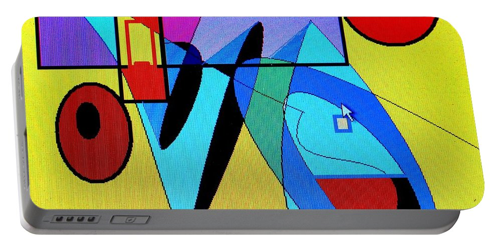 Horn Portable Battery Charger featuring the digital art Come Blow Your Horn by Ian MacDonald