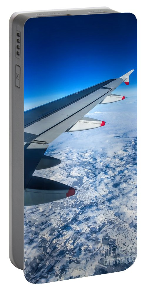 Airplane Portable Battery Charger featuring the photograph Come Fly With Me by Jasna Buncic