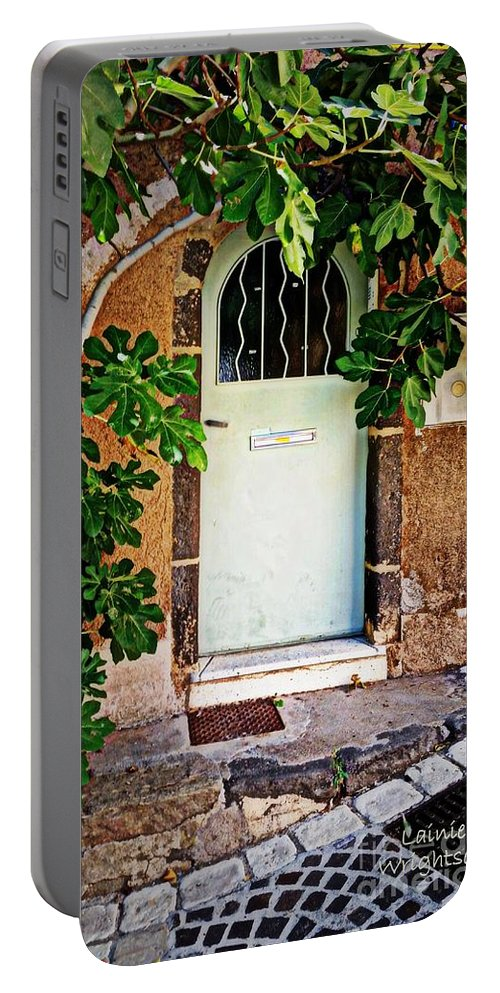 Door Portable Battery Charger featuring the photograph Come In by Lainie Wrightson