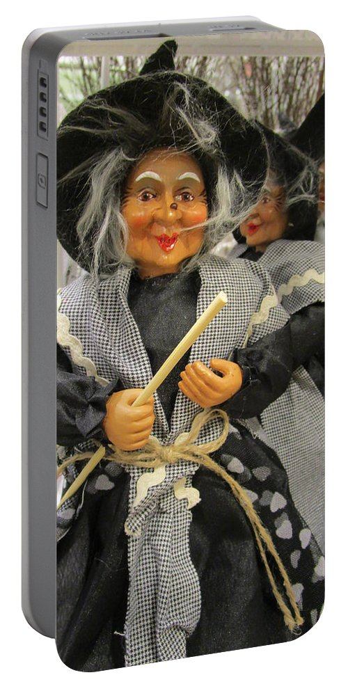 Witches Portable Battery Charger featuring the photograph Come On by Rosita Larsson