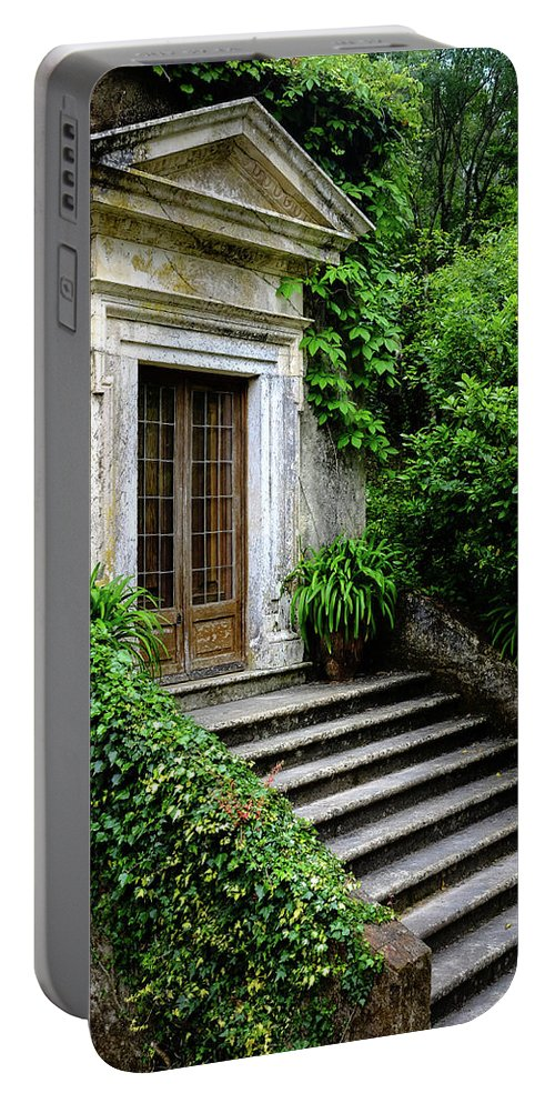 Temple Portable Battery Charger featuring the photograph Come On Up To The House by Marco Oliveira