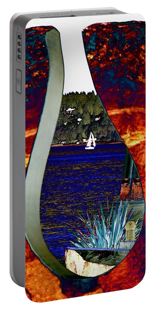 Bremerton Portable Battery Charger featuring the photograph Come Sail Away by Tim Allen