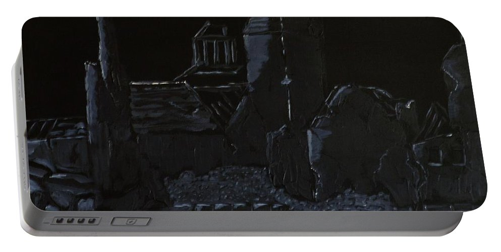 Disaster Portable Battery Charger featuring the painting Comeback by Mike Parsons