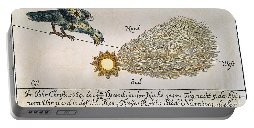 1664 Portable Battery Charger featuring the photograph Comet, 1664 by Granger