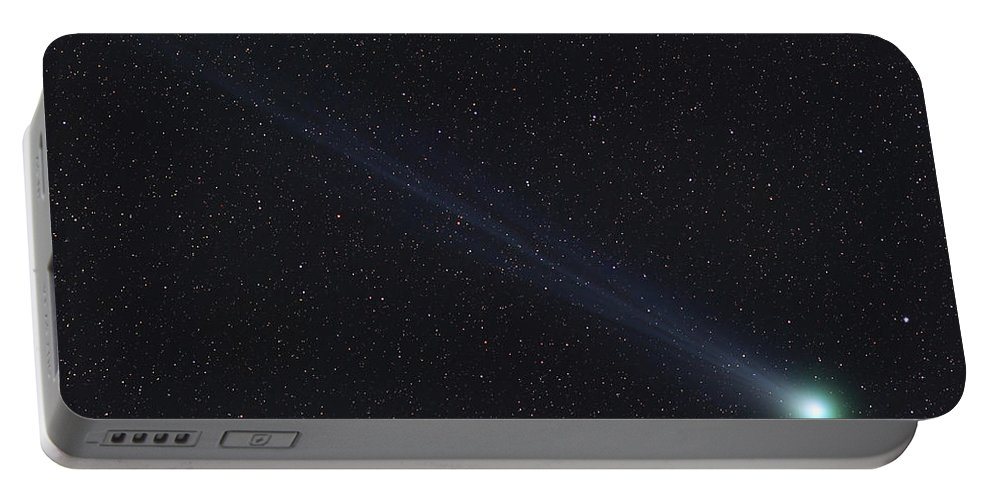 Space Portable Battery Charger featuring the photograph Comet Lovejoy by Rolf Geissinger