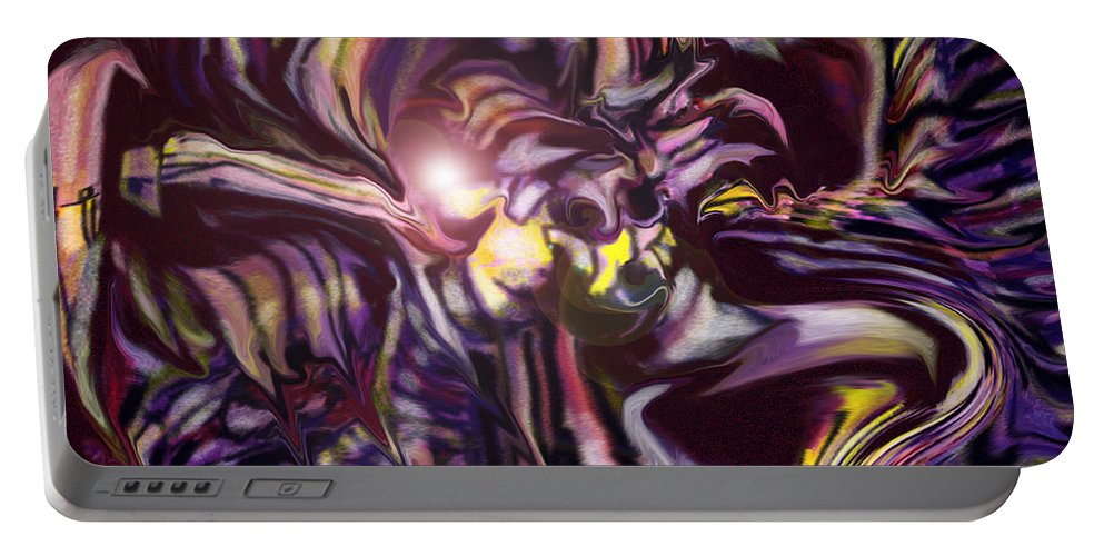 Abstract Portable Battery Charger featuring the digital art Coming To Get You by Ian MacDonald