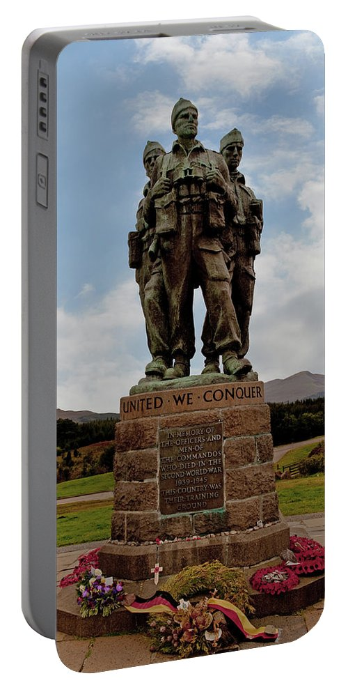 Commando Memorial Portable Battery Charger featuring the photograph Commando Memorial 2 by Chris Thaxter