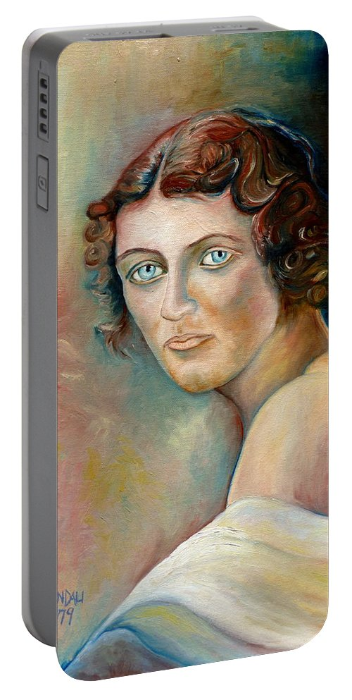Portrait Portable Battery Charger featuring the painting Commission Me Your Face by Carole Spandau