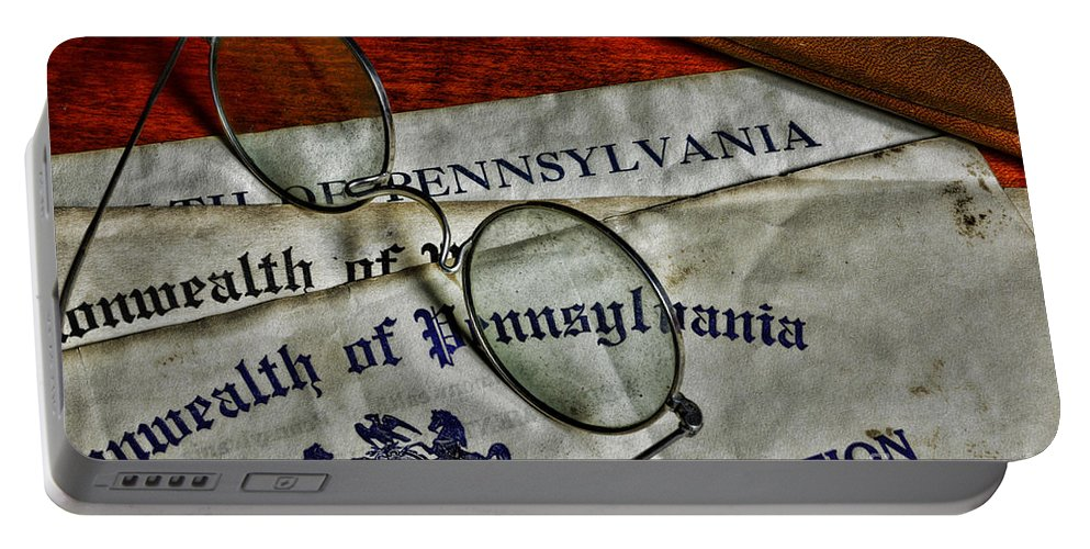 Paul Ward Portable Battery Charger featuring the photograph Commonwealth Of Pennsylvania by Paul Ward