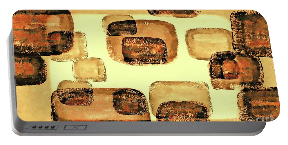 Mixed Media Abstract Portable Battery Charger featuring the mixed media Community 2 by Tim Richards