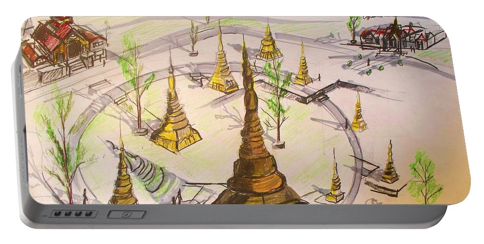 Concept Portable Battery Charger featuring the drawing Concept Drawing by Eric Schiabor
