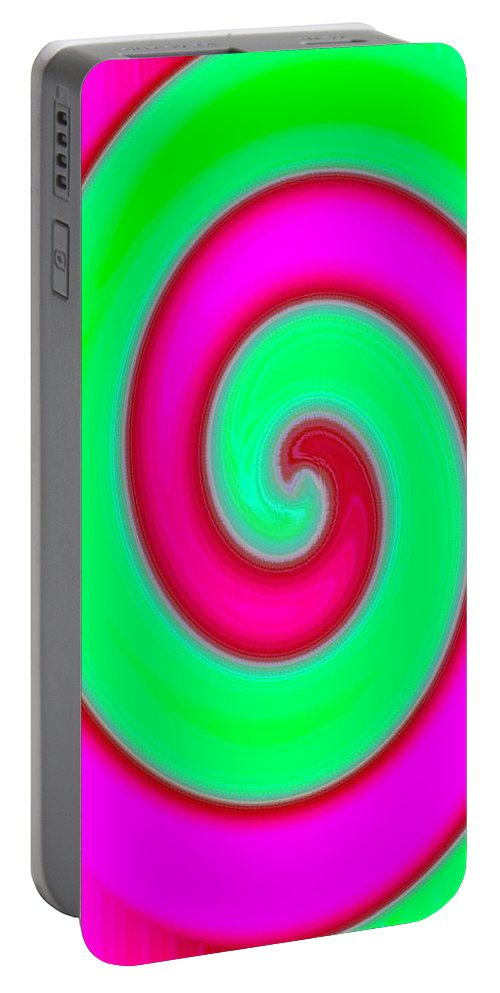 Abstract Portable Battery Charger featuring the digital art Conceptual 4 by Will Borden