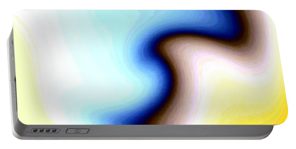 #faceprofileabstract Portable Battery Charger featuring the digital art Conceptual 7 by Will Borden