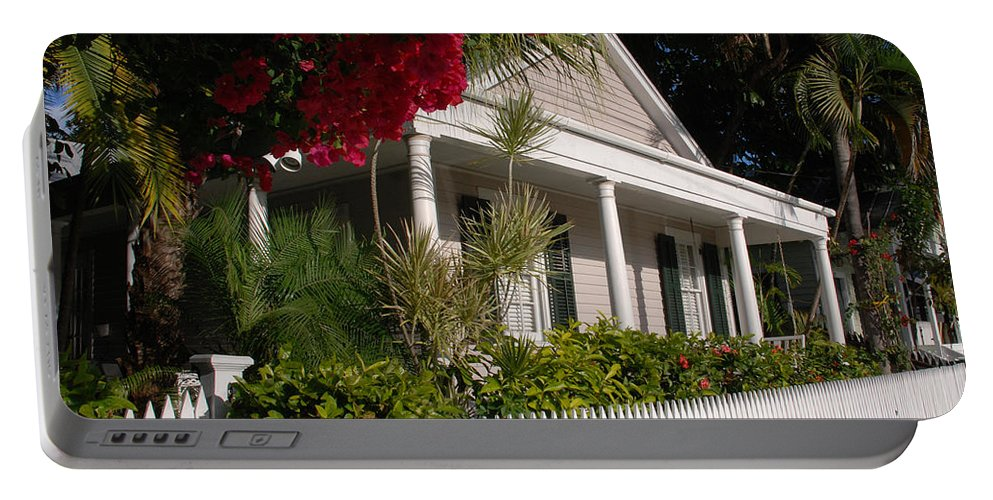 Photography Portable Battery Charger featuring the photograph Conch House In Key West by Susanne Van Hulst