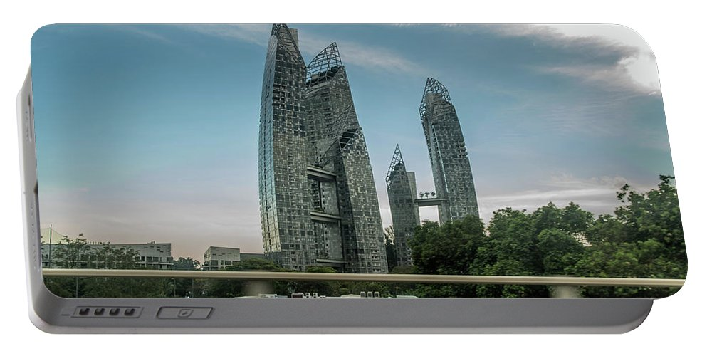 Condos Portable Battery Charger featuring the photograph Condos by David Rolt