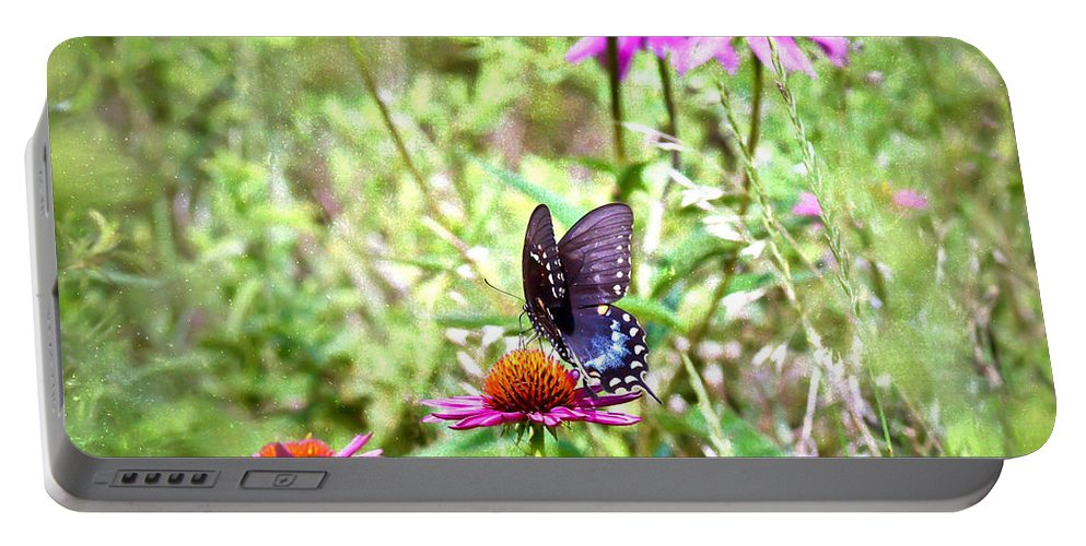 Coneflower Portable Battery Charger featuring the photograph Coneflower Companion by Kerri Farley