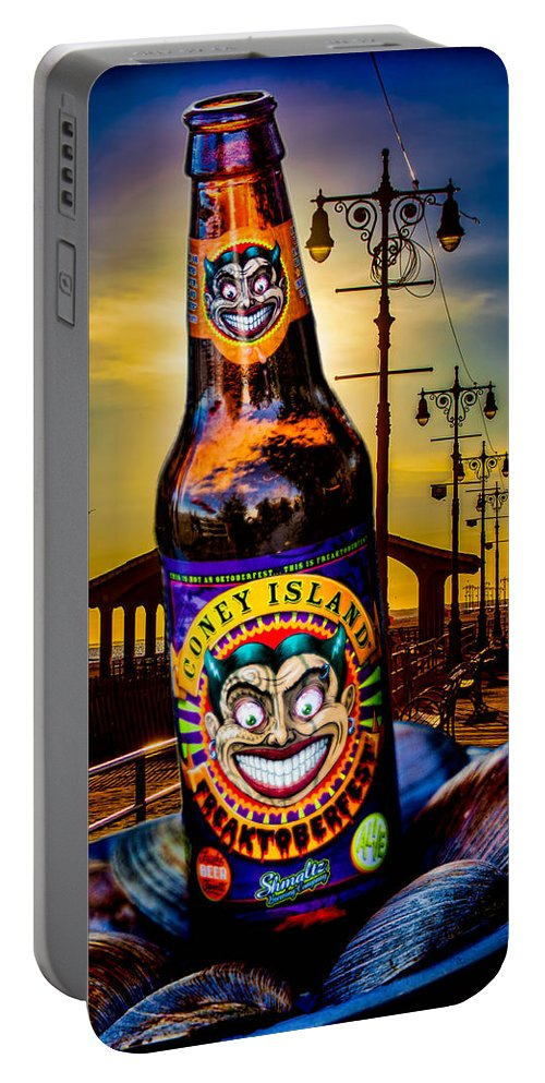 Beer Portable Battery Charger featuring the photograph Coney Island Beer by Chris Lord