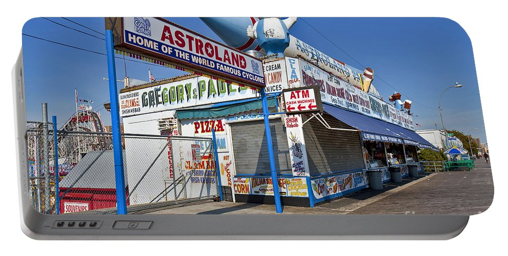 Astroland Portable Battery Charger featuring the photograph Coney Island Memories 11 by Madeline Ellis