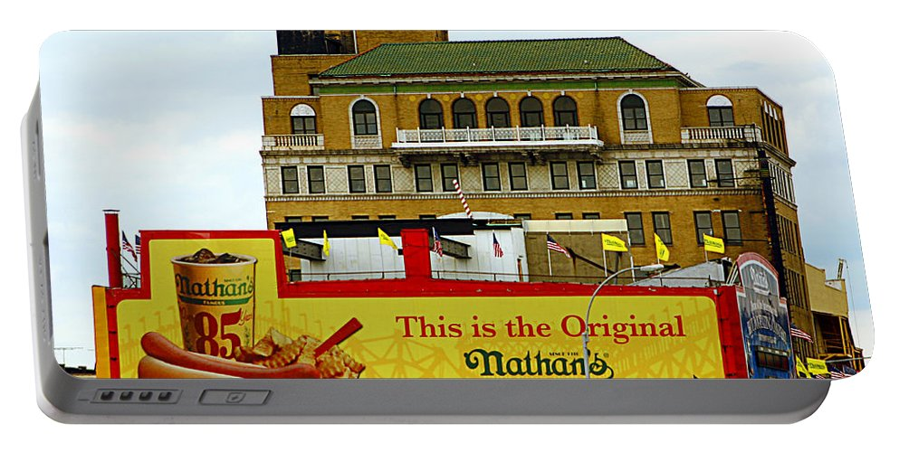 Food Portable Battery Charger featuring the photograph Coney Island Memories 9 by Madeline Ellis