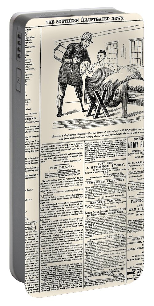 1863 Portable Battery Charger featuring the photograph Confederate Newspaper by Granger