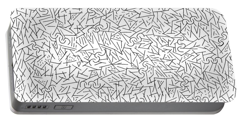 Mazes Portable Battery Charger featuring the drawing Confetti by Steven Natanson
