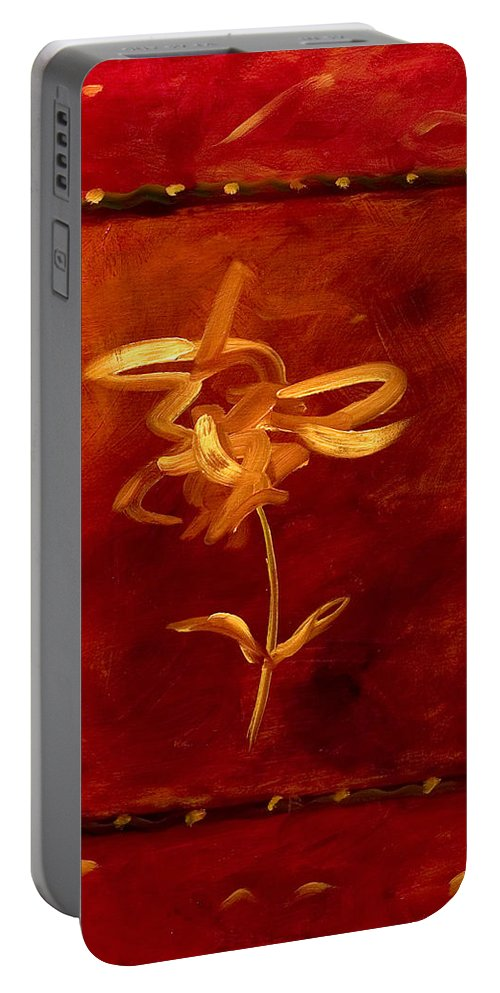 Abstract Portable Battery Charger featuring the painting Confidence by Shannon Grissom